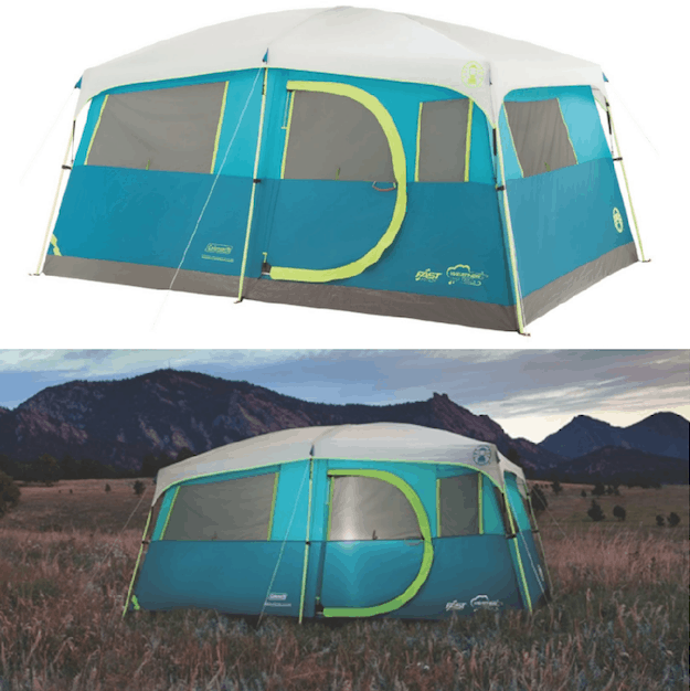 You can also get this Coleman Tenaya Lake 8-Person Fast Pitch Instant Cabin C&ing Tent with WeatherTec for $103.24!  sc 1 st  Passionate Penny Pincher & Lowest Price Coleman WeatherMaster 10-Person Hinged Door Tent ...
