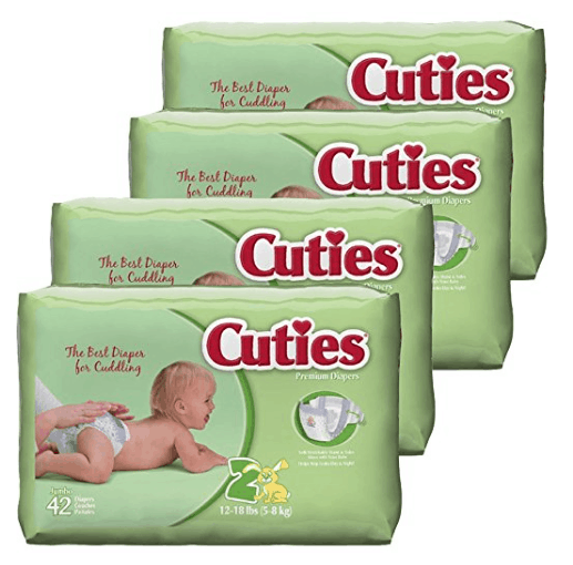 Cuties Baby Diapers, Size 2