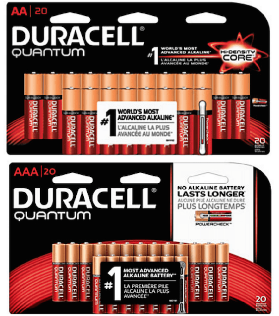 duracell 20 count quantum aa or aaa batteries free at office depot officemax passionate penny. Black Bedroom Furniture Sets. Home Design Ideas