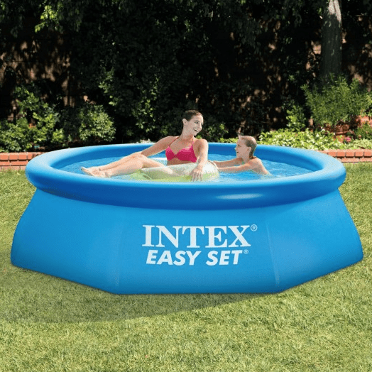 intex 8ft x 30in easy set pool set with filter pump. Black Bedroom Furniture Sets. Home Design Ideas