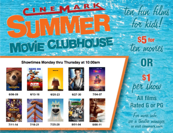 kids summer movie programs master list