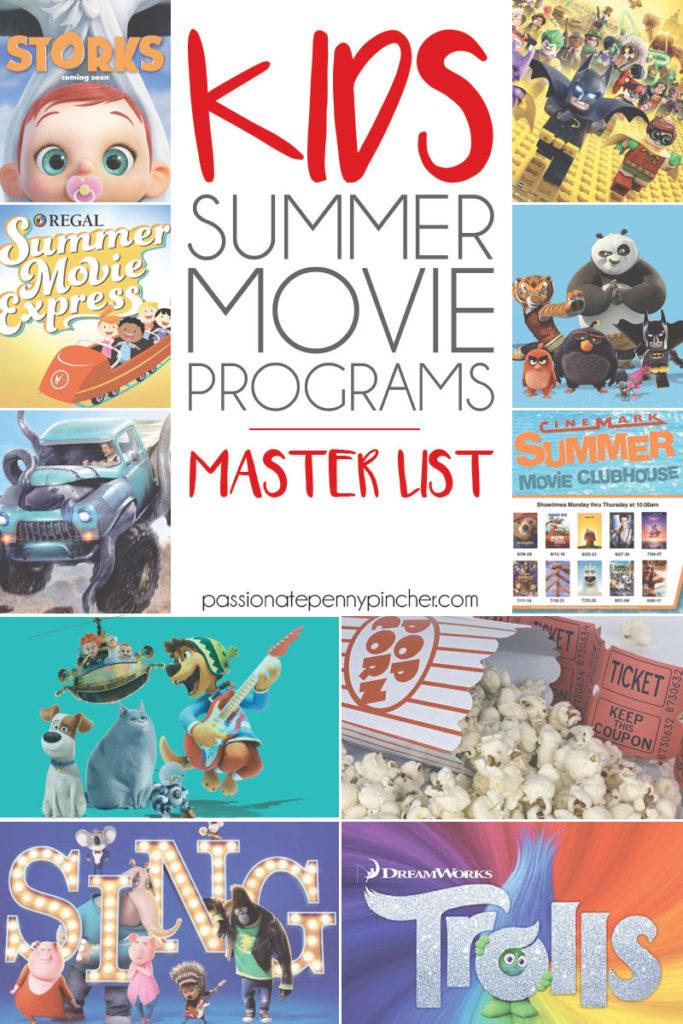 kids summer movie programs