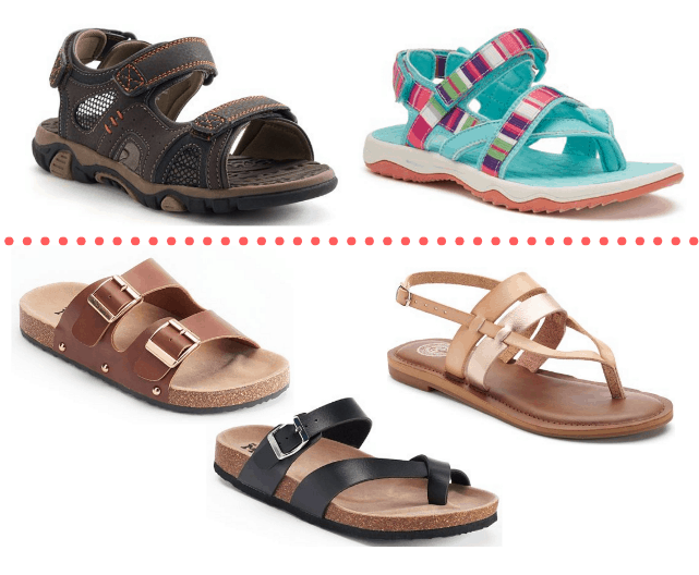 e030e974b4b7 Need some summer footwear for the family  Kohl s has an AWESOME deals on  sandals!