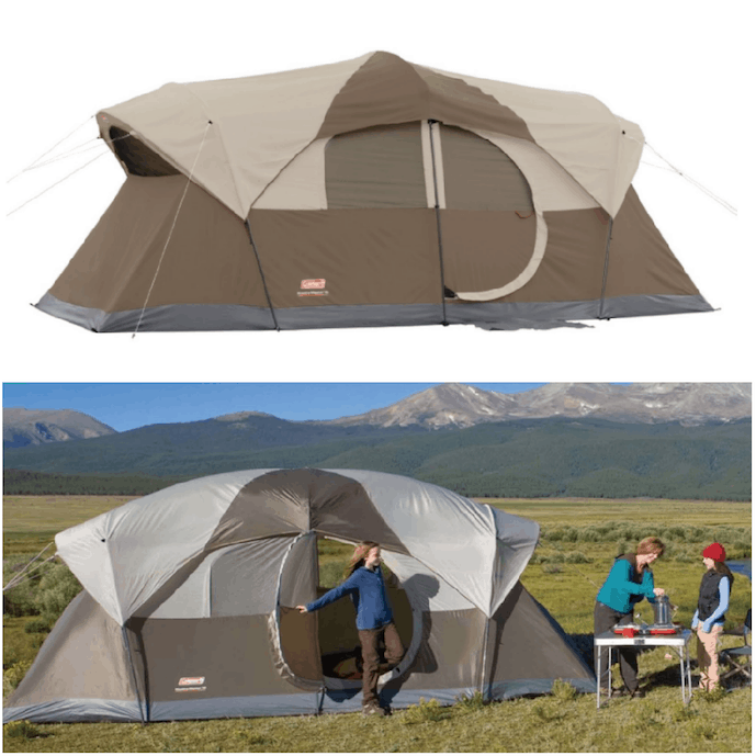 e7d5e4a1a66 Lowest Price Coleman WeatherMaster 10-Person Hinged Door Tent