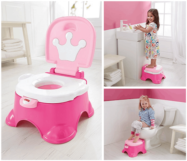 Tremendous Fisher Price Pink Princess Stepstool Potty 10 55 Lowest Price Pabps2019 Chair Design Images Pabps2019Com