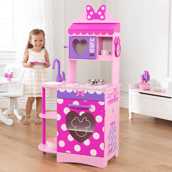 Minnie Mouse Play Kitchen: KidKraft Disney Jr. Minnie Mouse Toddler Kitchen Play $76