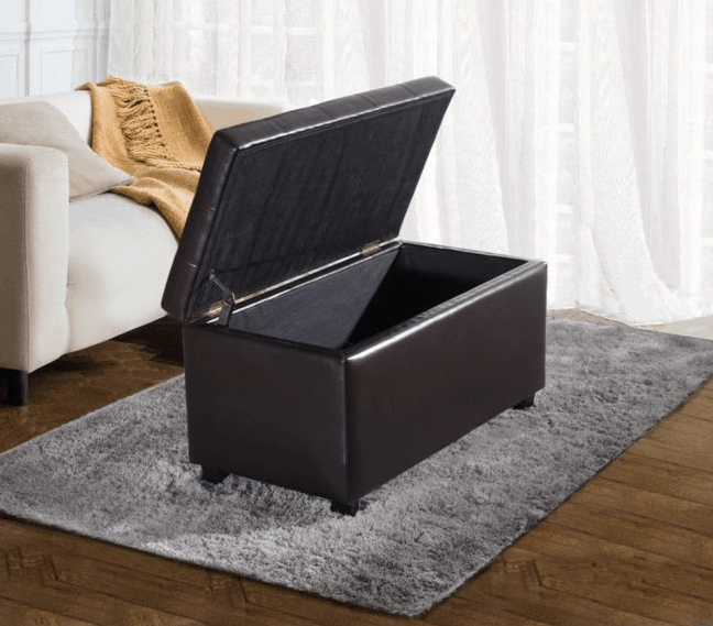 ... Rectangular Storage Ottoman With Large Interior Storage; All Efforts  Have Been Made To Reproduce Accurate Colors, However Variations In Color  May Occur ...