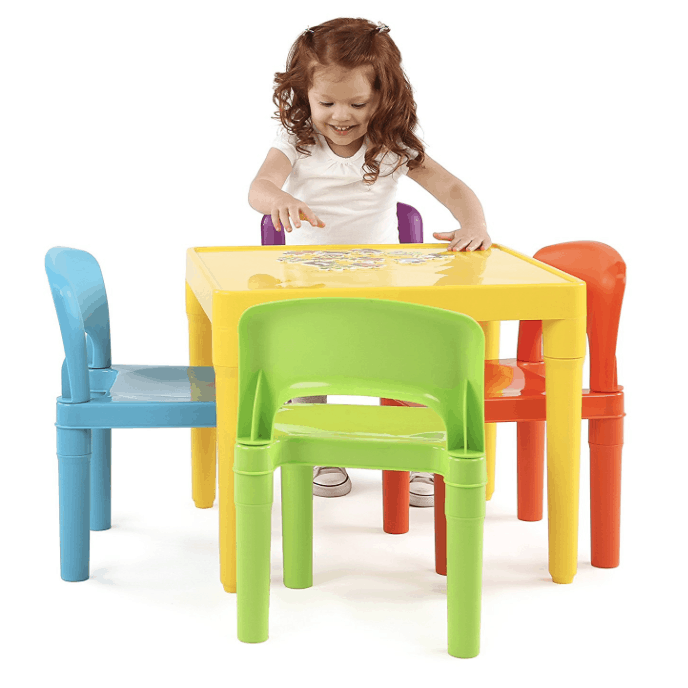 Remember that pricing on Amazon is subject to change at any time.  sc 1 st  Passionate Penny Pincher & Tot Tutors Kids Plastic Table and 4 Chairs Set $32 | Passionate ...
