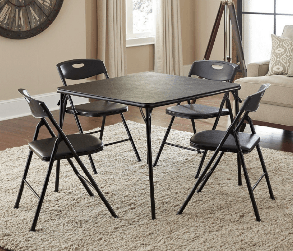 5 Piece Folding Table and Chair Set $49 87 Lowest Price