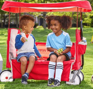 Radio Flyer 3 In 1 Ez Fold Wagon Ride On With Canopy 70 Lowest Price