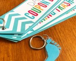 Father's Day Footprint Keychain ( SO EASY!)