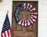 Patriotic Bandana Wreath DIY