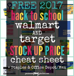 FREE 2017 Back to School Cheat Sheet