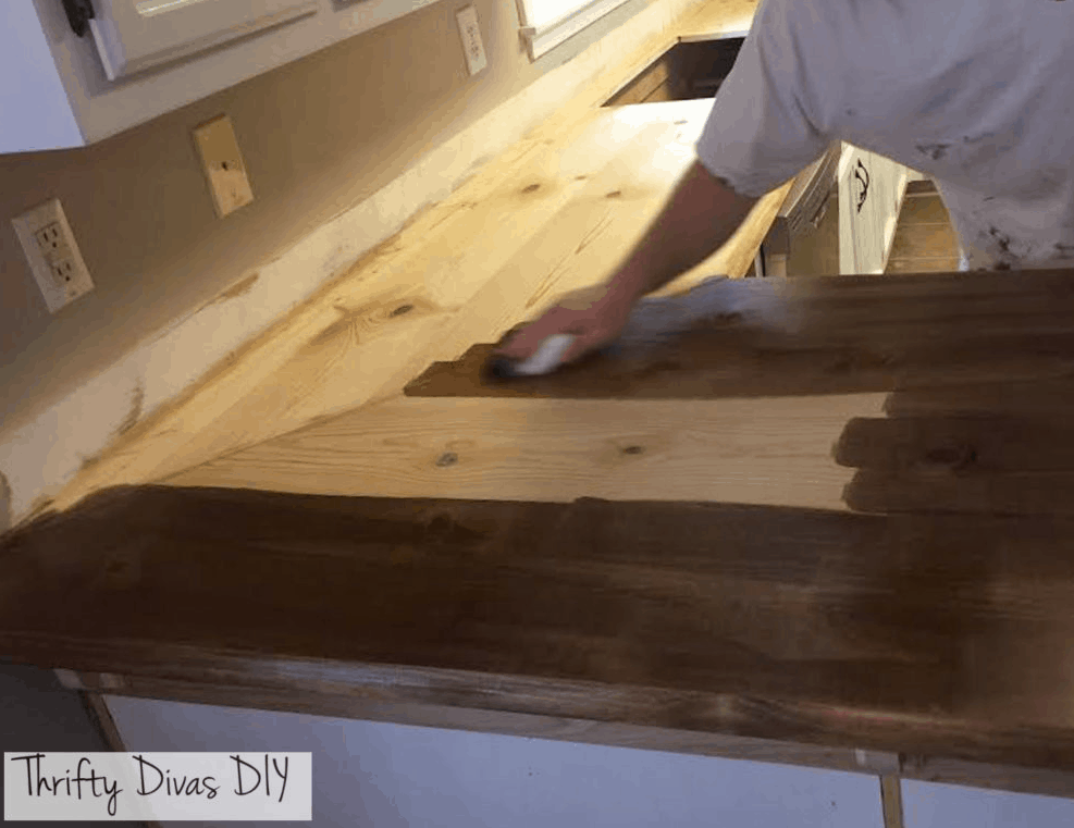 25 Days Of Penny Pinched Kitchen Makeovers Day 5 Diy Wide Plank