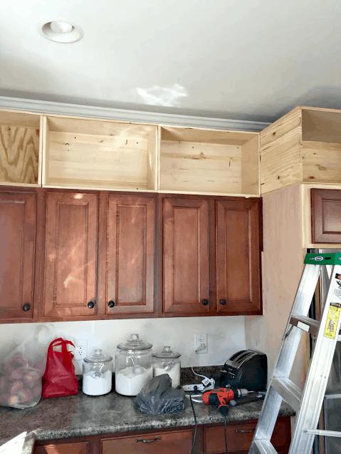 25 Days Of Penny Pinched Kitchen Makeovers Day 6 Add Height To Cabinets