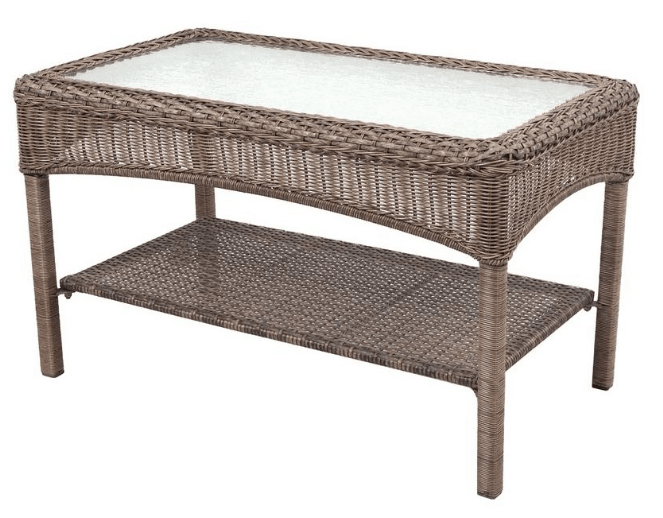 Right Now Home Depot Has This Martha Stewart Living Charlottetown Brown  All Weather Wicker Patio Coffee Table Marked Down To $32.25!