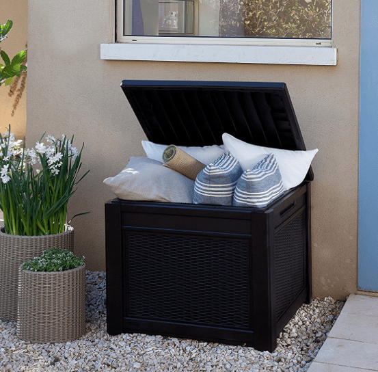 Outdoor 55 Gallon Patio Storage Cube Table $49.98 (Lowest Price)