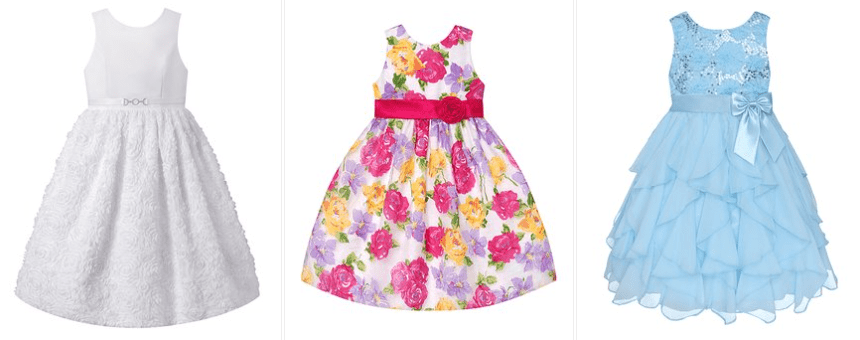 """9a9bfe78867 There are some really cute options in sizes infant to big girl 12. (Just  search """"dresses  9.99"""" to see the sale)."""