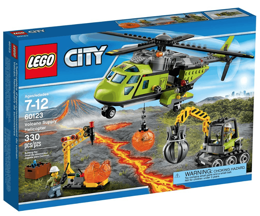 City Price Lego 99lowest Volcano Supply Helicopter33 H9beWD2EYI