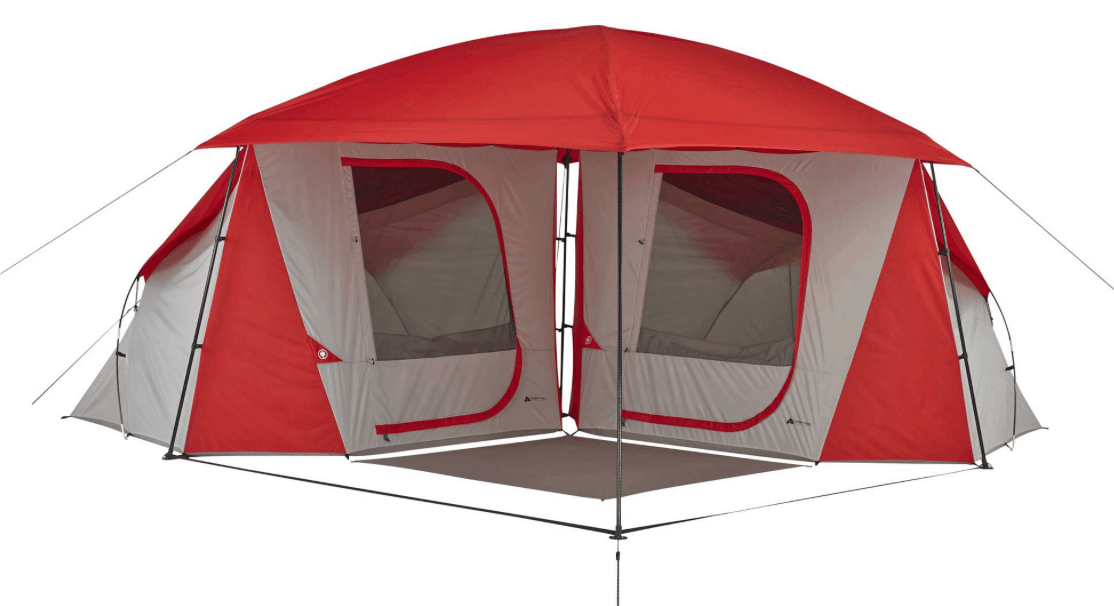Ozark Trail 8-Person Dome ConnecTent with Versatile Canopy for $93  sc 1 st  Passionate Penny Pincher & Ozark Trail 10-Person 3-Room Cabin Tent $89 (Regularly $139 ...