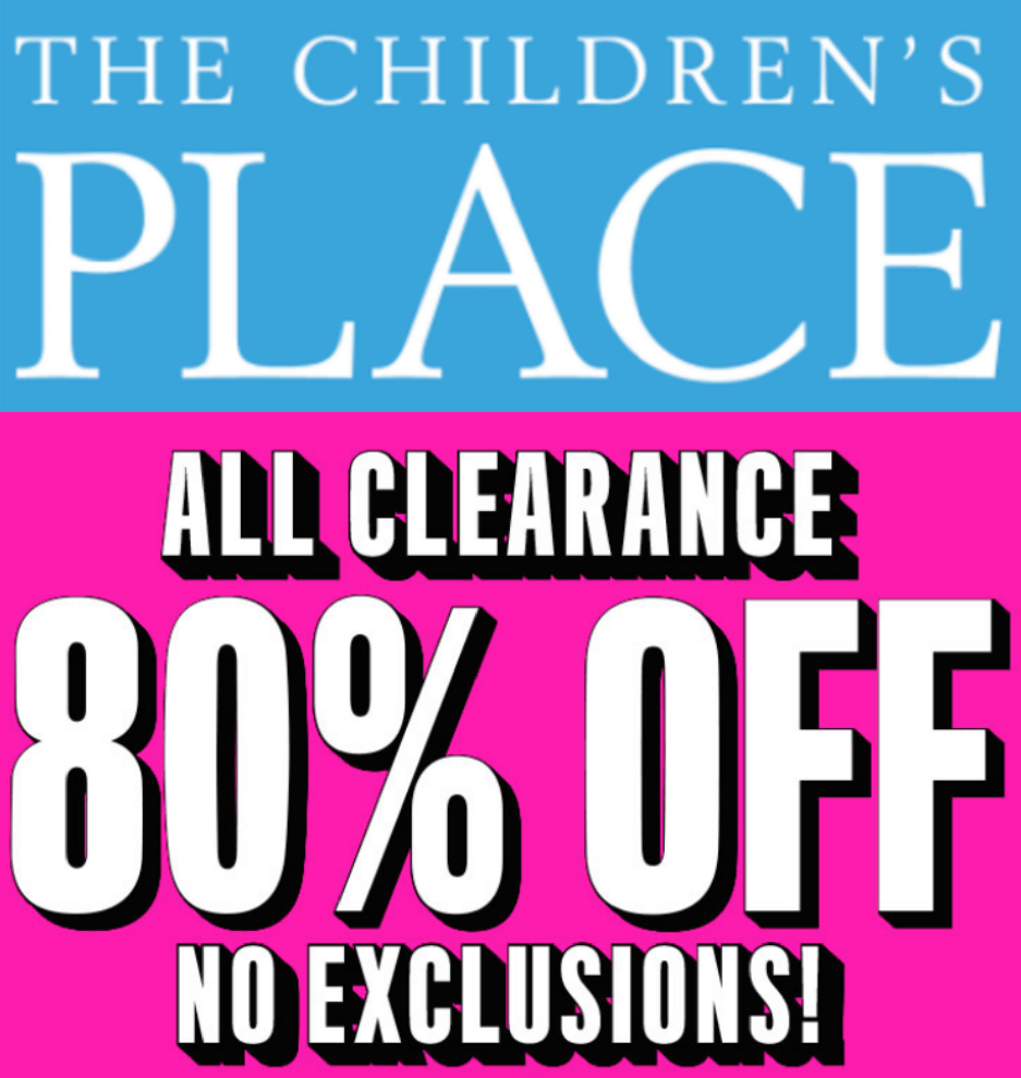 727f8f4255ed8 Children s Place  80% Off Clearance + Free Shipping!