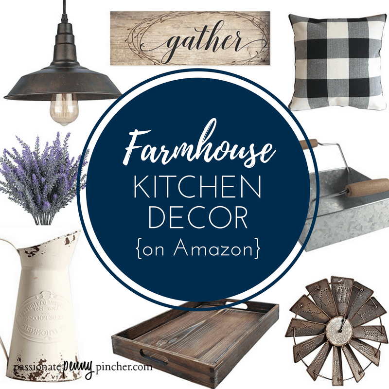 farmhouse kitchen decor on amazon