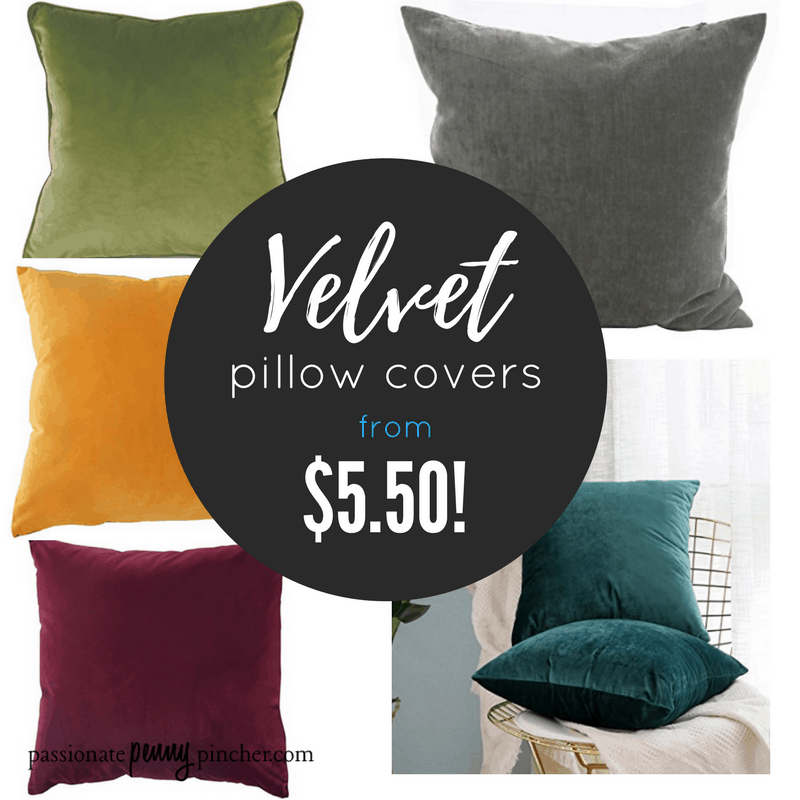 Velvet Throw Pillow Covers For Fall From 5 50 Shipped