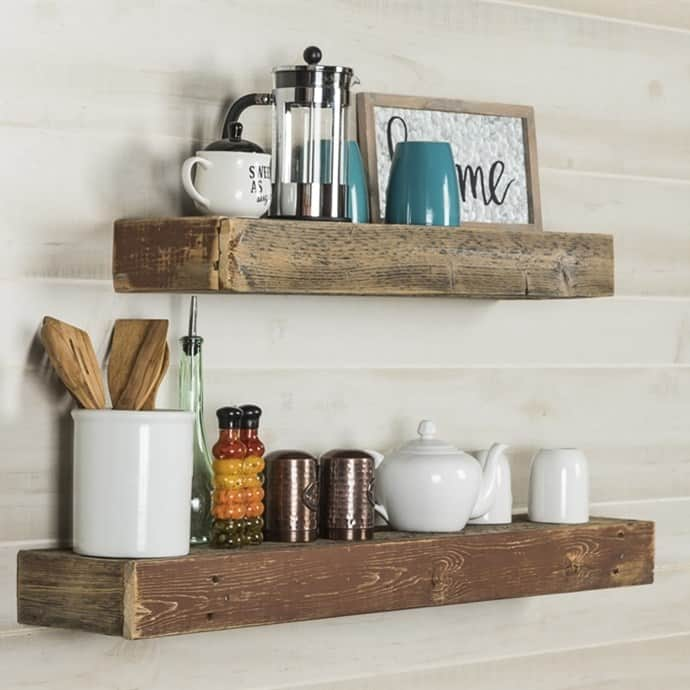 Barnwood floating shelves passionate penny pincher for Barnwood shelves for sale