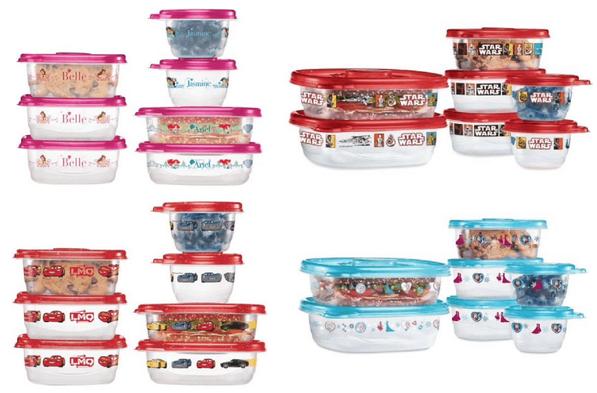 Right Now Walmart.com Has These Cute Disney 14 Piece Glad Food Storage  Container Sets Marked Down To $3.98! Choose From Disney Princesses, Frozen,  Cars, ...