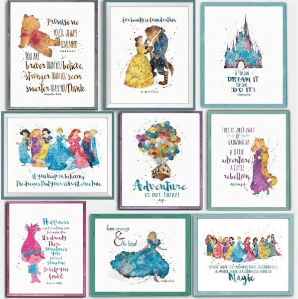 Disney Inspired Enchanted Quotes And Characters 8x10 Prints 3 37