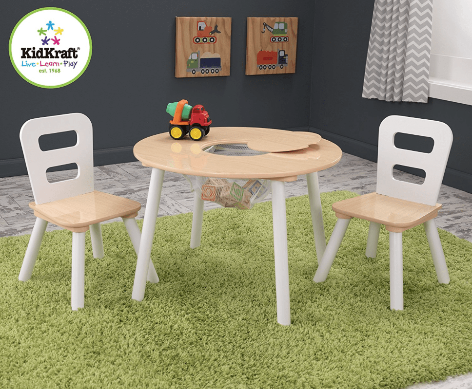 Kidkraft round table and 2 chair set lowest price - Chaise et table bebe ...
