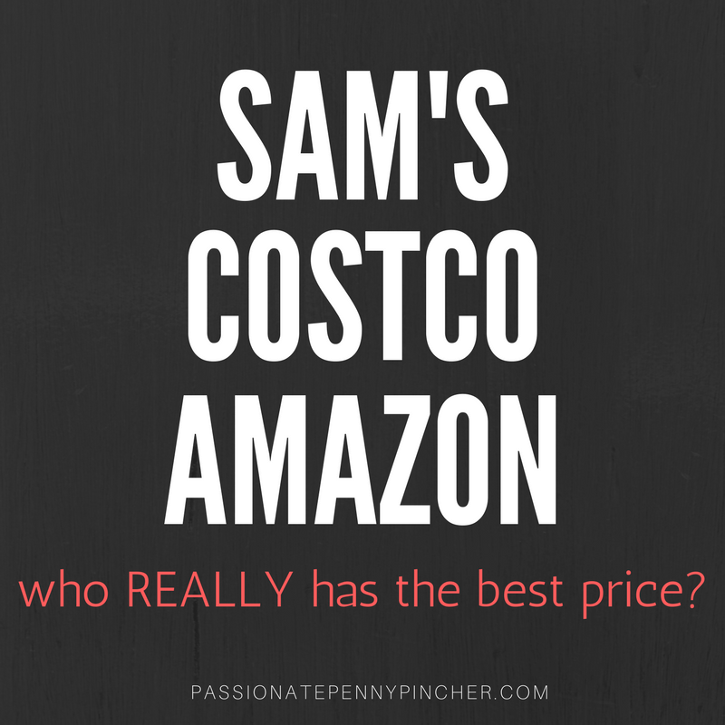 sams costco and amazon price comparison we were surprised
