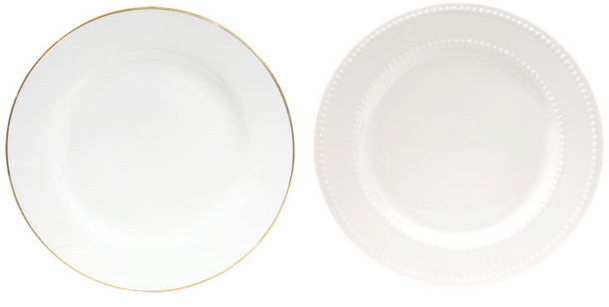 Gold Rimmed Stoneware Dinner Plate \u2013 $1 (Case of 12 $12)  sc 1 st  Passionate Penny Pincher & White Dinnerware Sets for 12... only $12?? | Passionate Penny Pincher