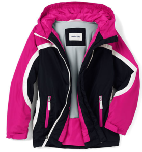 a722d9b2f Right now at Land's End you can snag some seriously nice kids coats and  jackets for as low as $19.99! Magenta Rose Large Dots Fleece-Lined Puffer  Jacket ...