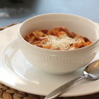 Crock-tober Day 9 - Slow Cooker Pasta Fagioli Soup