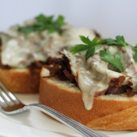 Crock-tober Day 8: Slow Cooker Open Faced Sirloin Sandwiches + See What I Scored For $30 Today!
