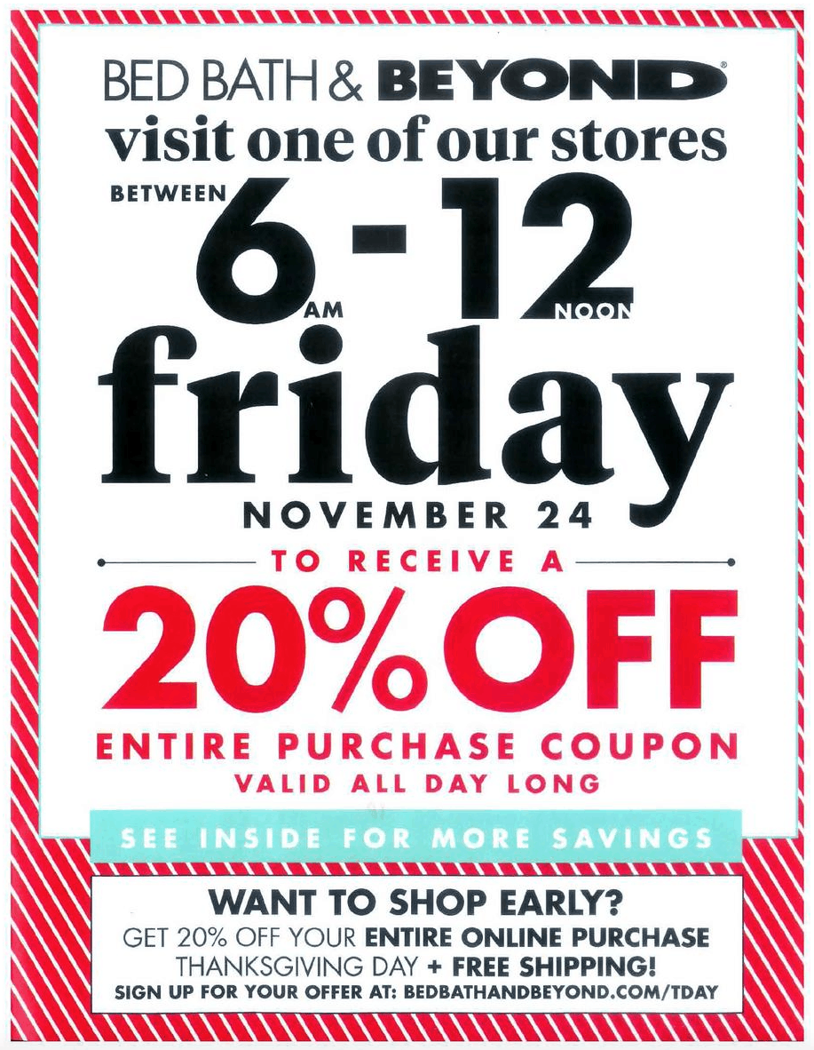 Black Friday Bed Bath Beyond Coupon