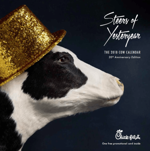 Each Cow Calendar includes a digital offer card. Register that card through your Chick-fil-A One App or the Chick-fil-A website and receive a free food item at the beginning of each month. Can I buy more than one? Of course, but they can sell out quickly. Cow Calendars also make great holiday gifts.