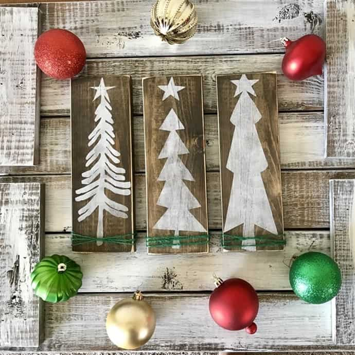 or this rustic farmhouse christmas tree set - Farmhouse Christmas Decor For Sale