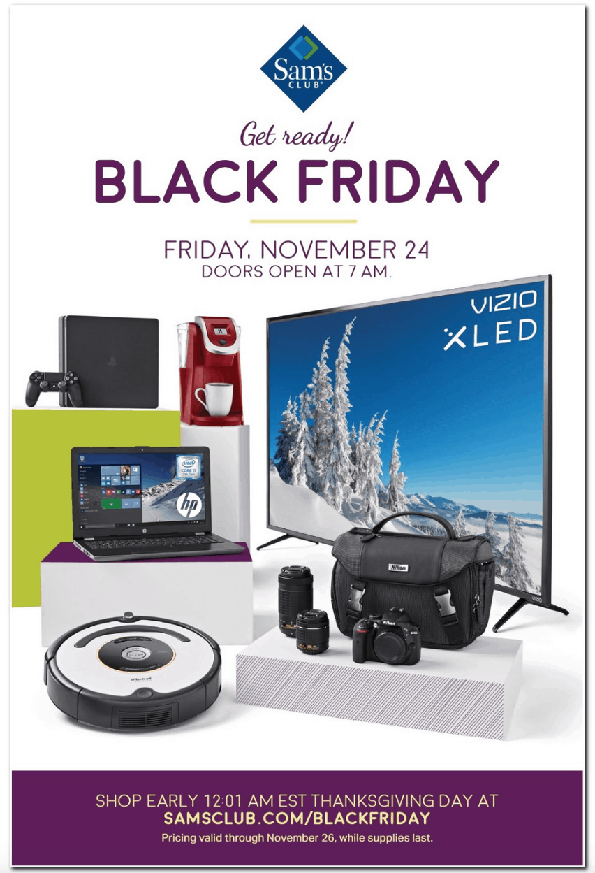 Image result for sam's club 2017 black friday ad