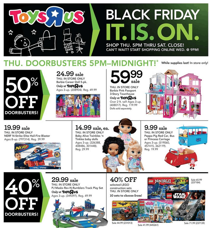 Image result for toys r us black friday 2017 ad