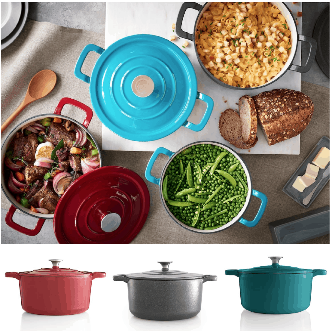133 Shares & Kohlu0027s Black Friday Sale | Food Network 3.5-Quart Cast-Iron Dutch ...