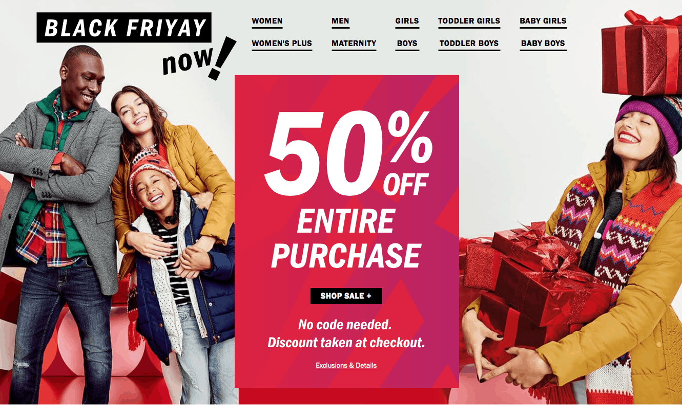 Old Navy Black Friday Sale LIVE NOW (50% Off Entire Purchase ...