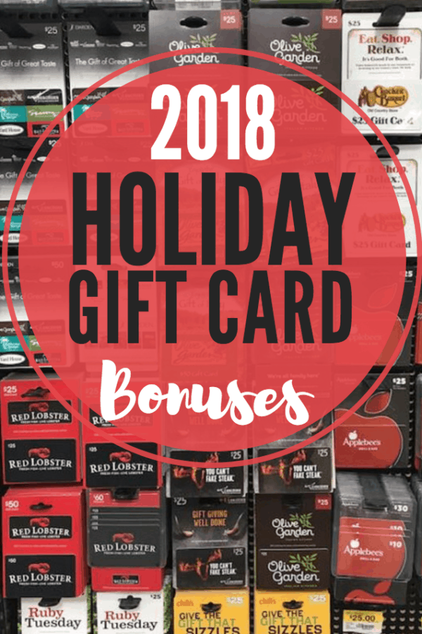 Holiday Restaurant Gift Card Promotions 2018 Passionate Penny Pincher