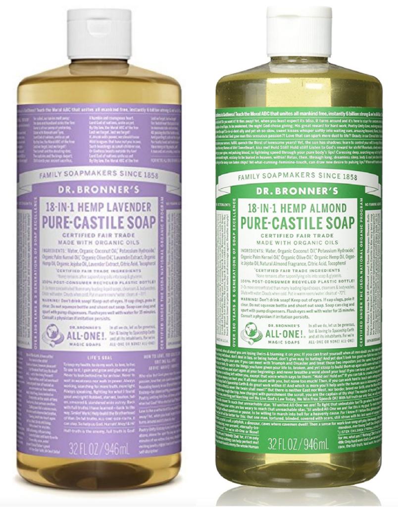 Dr  Bronner's Pure-Castile Liquid Soap $9 35 (Regularly $17 99)