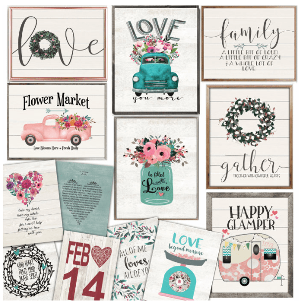 Rustic 8 x 10 Valentines Day Art Prints 299 Passionate Penny
