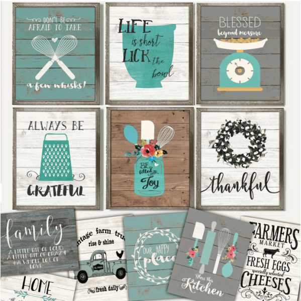 Attirant Rustic Cozy Kitchen Art Prints $2.97