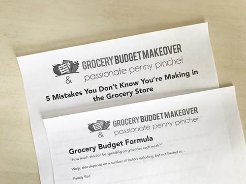 grocery budget worksheet