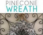 Looking for the perfect frugal winter decoration? This DIY winter pinecone wreath is easy and will look SO beautiful in your home. This wreath is sure to fluff up your home in winter or any month of the year!