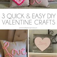 3 Quick and Easy DIY Valentine Crafts